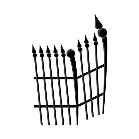 cemetery gate metal isolated icon vector illustration design Ilustración de vector
