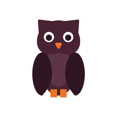 halloween owl flat style icon vector illustration design Illusztráció