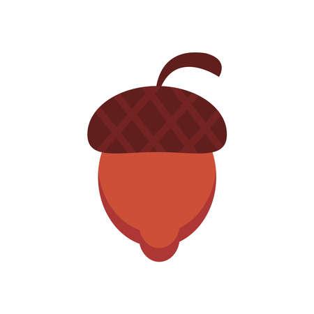 nut seed flat style icon vector illustration design