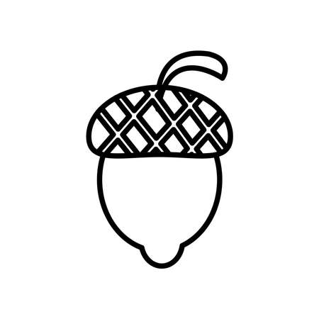 nut seed line style icon vector illustration design 向量圖像