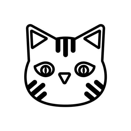 halloween cat head line style icon vector illustration design