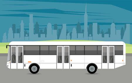 bus white mockup car vehicle icon vector illustration design Stock fotó - 155332911