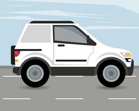 camper mockup car vehicle icon vector illustration design