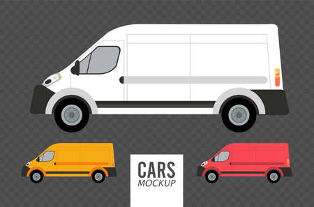 vans mockup cars vehicles icons vector illustration design Stock fotó - 155332945