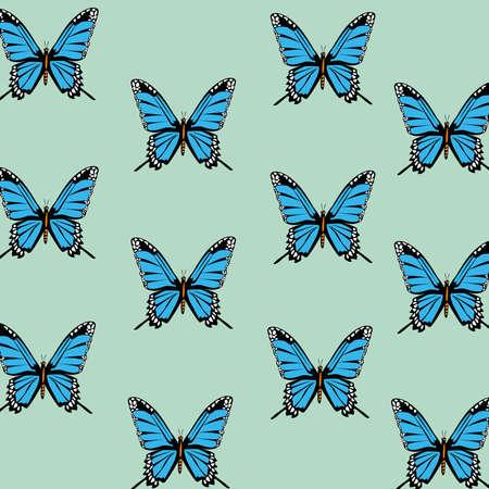 beautiful butterflies decorative pattern background vector illustration design