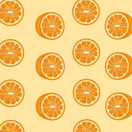 oranges citrus fruits decorative pattern vector illustration design Vettoriali