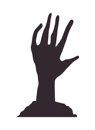 death zombie hand isolated icon vector illustration design Ilustrace