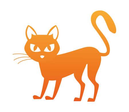 halloween cat black isolated icon vector illustration design