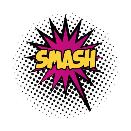expression splash with smash word pop art fill style vector illustration design