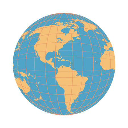 world earth map isolated icon vector illustration design Vektoros illusztráció