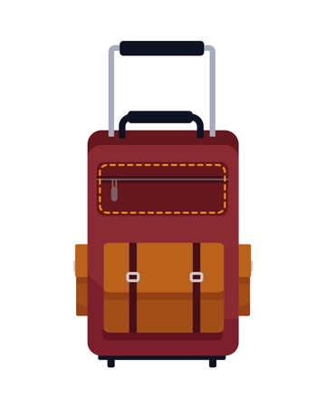 travel suitcase accessory isolated icon vector illustration design Vecteurs
