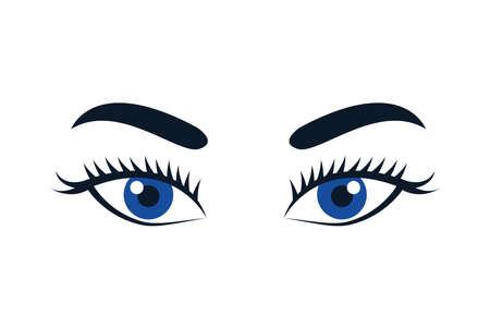 beautiful female eyes isolated icon vector illustration design