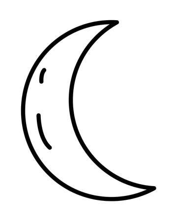 crescent moon line style icon vector illustration design 免版税图像 - 157526830