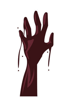 zombie death hand isolated icon vector illustration design