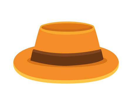 tourist hat accessory isolated icon vector illustration design