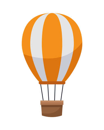 hot air balloon isolated icon vector illustration design Ilustrace