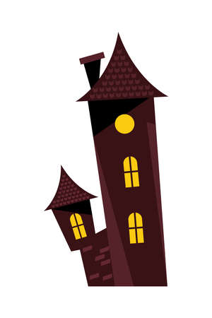 halloween dark house isolated icon vector illustration design