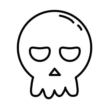 halloween head skull line style icon vector illustration design 矢量图像