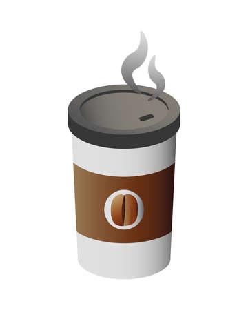 delicious coffee in plastic container vector illustration design