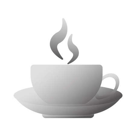delicious coffee in ceramic cup vector illustration design