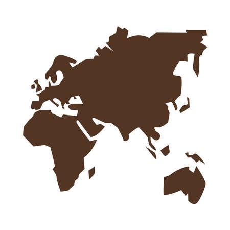 old continents silhouette geography icon vector illustration design