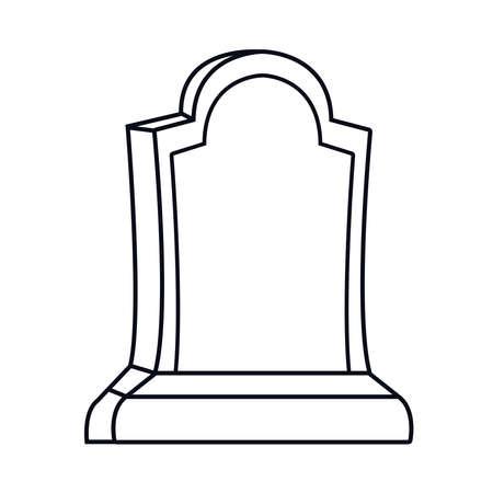 cemetery tomb halloween isolated icon vector illustration design