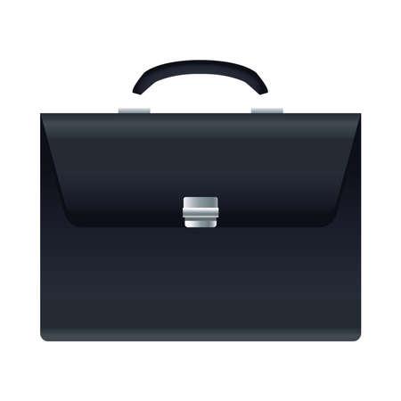 elegant briefcase mockup isolated icon vector illustration design