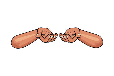 hands human protecting isolated icon vector illustration design