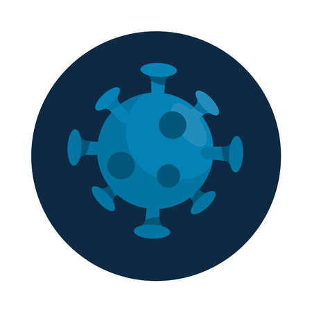 covid19 particle pandemic isolated icon vector illustration design
