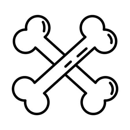 bones crossed line style icon vector illustration design