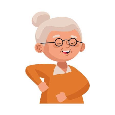 cute old woman dancing character vector illustration design 일러스트