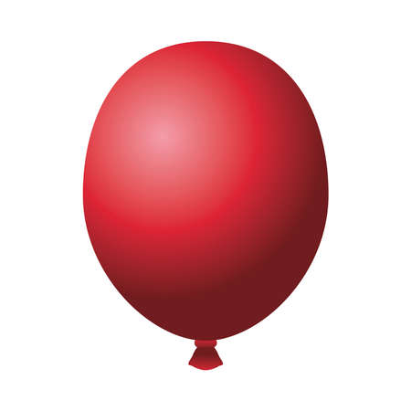 red balloon helium floating isolated icon vector illustration design