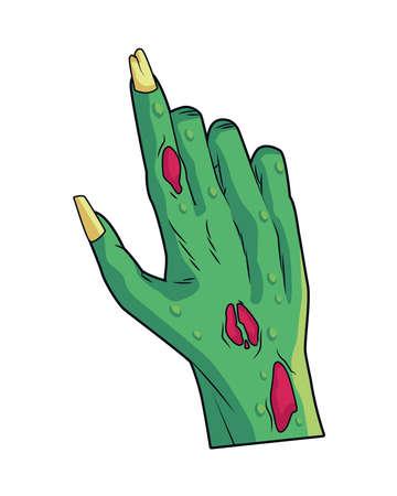 death zombie hand halloween icon vector illustration design 矢量图像