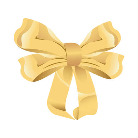 bowtie ribbon decorative isolated icon vector illustration design Ilustração