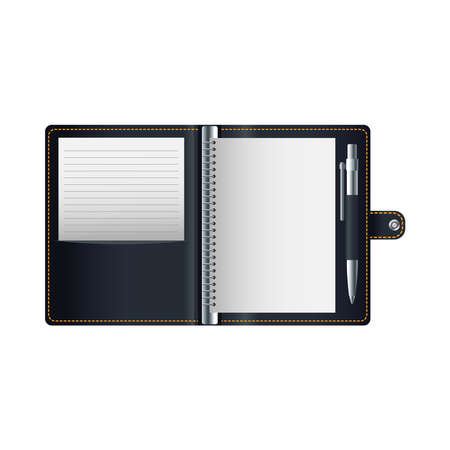 diary book mockup isolated icon vector illustration design 向量圖像