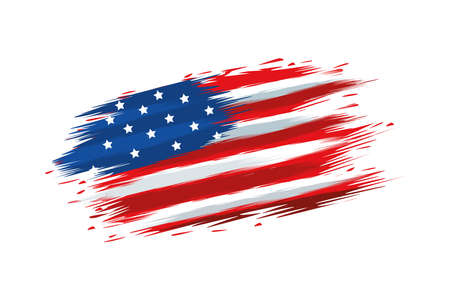 united states of america flag painted vector illustration design