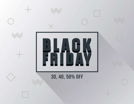 black friday sale banner with lettering in square frame vector illustration design 向量圖像
