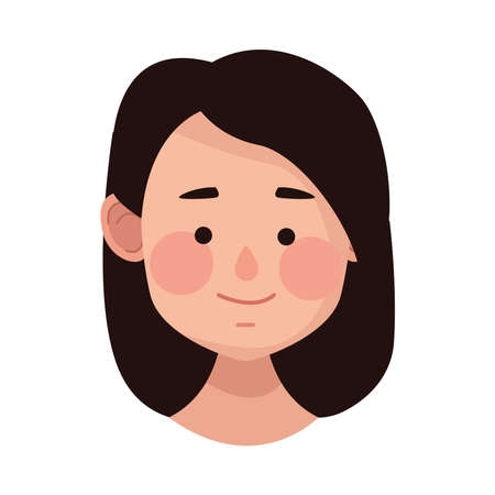 young woman female head character vector illustration design Vecteurs