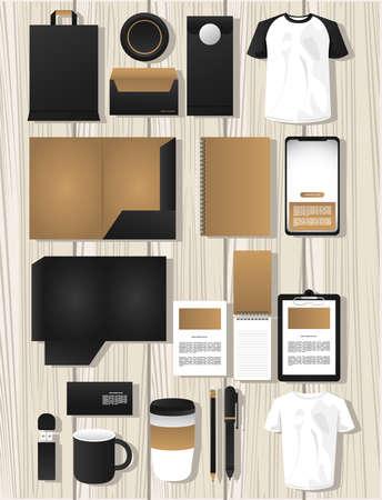 bundle of mockup elements branding vector illustration design Vektorgrafik