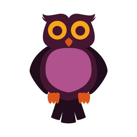 owl bird animal isolated icon vector illustration design