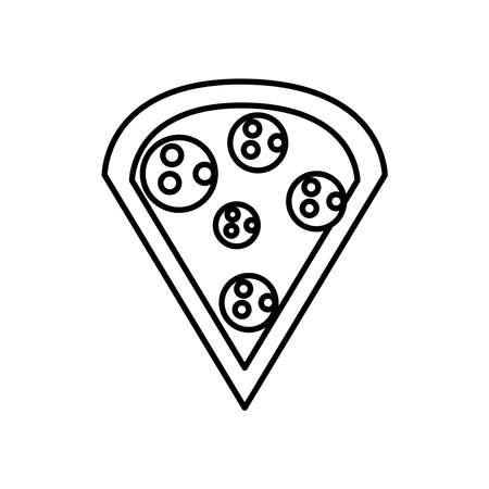 pizza italian food line style icon vector illustration design