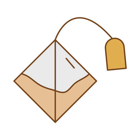 tea bag fill style icon vector illustration design