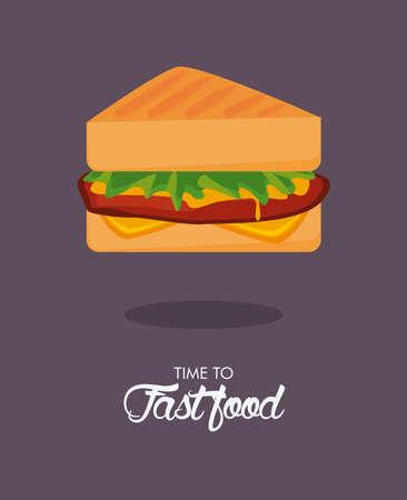 sandwiche delicious fast food icon vector illustration design