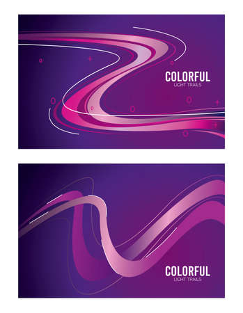 colorful light trail in purple backgrounds vector illustration design