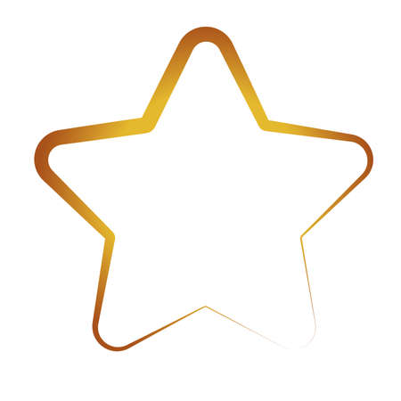 happy merry christmas golden star with five pointed icon vector illustration design