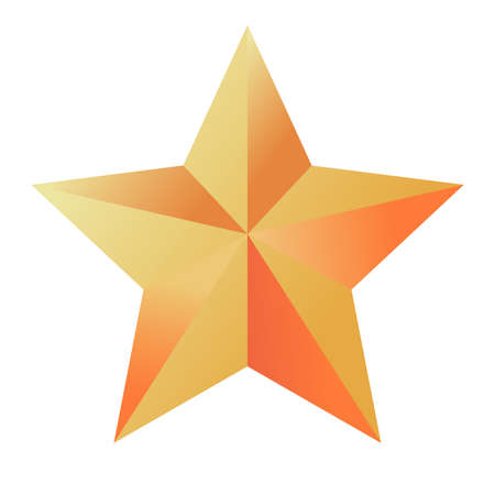 happy merry christmas golden star with five pointed isolated icon vector illustration design