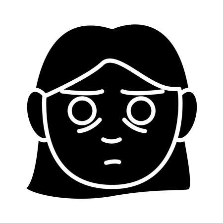 head woman with Insomnia silhouette style icon vector illustration design