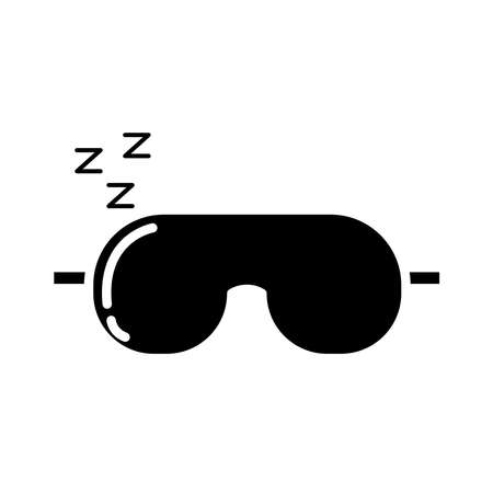 eye cover mask with Insomnia z letters silhouette style icon vector illustration design