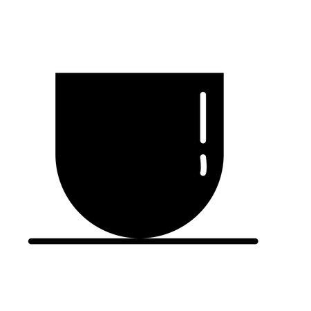 tea cup silhouette style icon vector illustration design Vectores