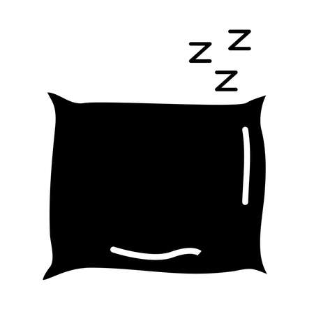 pillow and z letters style silhouette icon vector illustration design Vectores